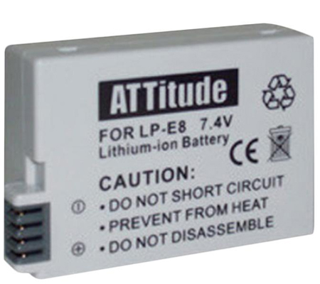 ATTitude Canon LP-E8 Battery for Canon EOS 550D/600D/650D/700D