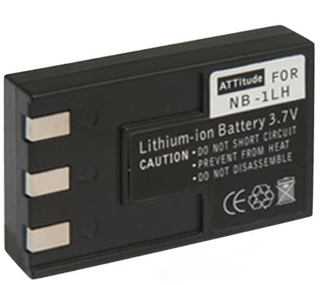 ATTitude Canon NB-1LH Battery for CanonIXUS S100/S110/S200/S230/S300/S330/S400/S410/S500