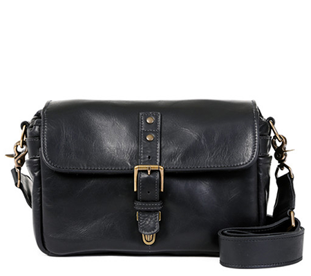 ONA Black Leather Bowery Messenger Camera Bag