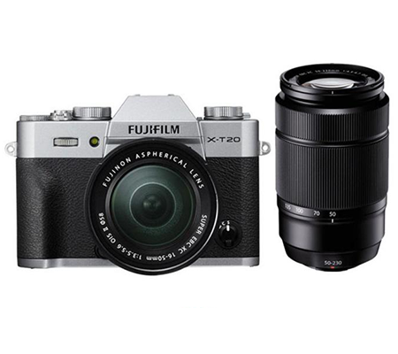 Fujifilm XT20 kit XC16-50mm f/3.5-5.6 OIS II + XC50-230mm f/4.5-6.7 OIS Silver
