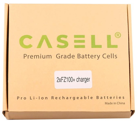 Casell Battery NP-FZ100 + Charger For Sony A7 III / A7R III / A7RIV / A9 / A9II