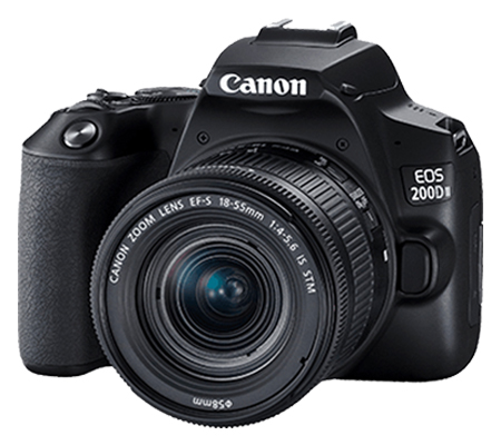 Canon EOS 200D Mark II with lens 18-55mm Black