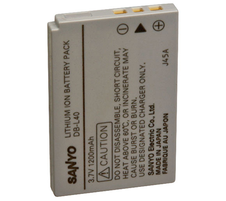 Sanyo DB-L40AU Lithium-Ion Battery (3.7V 1200mAh)