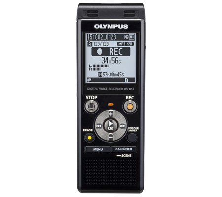 Olympus WS-853 Digital Voice Recorder Black