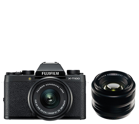 Fujifilm X-T100 Kit XC15-45mm & XF 35mm F/1.4 Black