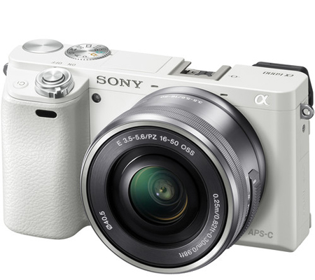 Sony Alpha A6000 kit 16-50mm f/3.5-5.6 OSS White