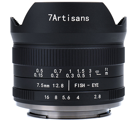 7artisans 7.5mm f/2.8 II Fisheye for Panasonic Olympus Micro Four Thirds Mount Black