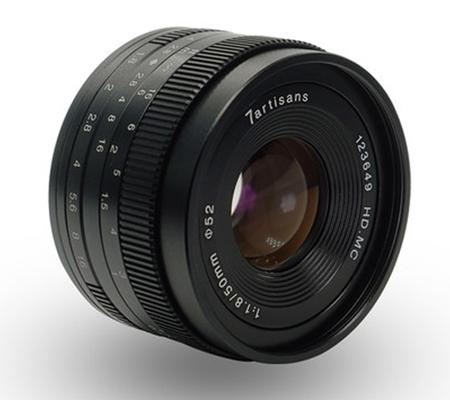 7artisans 50mm f/1.8 for Panasonic Olympus Micro Four Thirds Mount Black