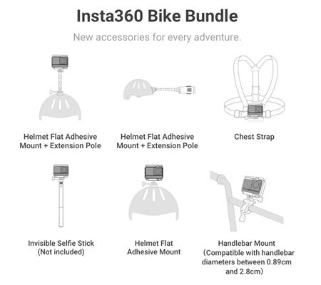 Insta360 Bike Bundle for ONE R, ONE X, ONE Action Camera