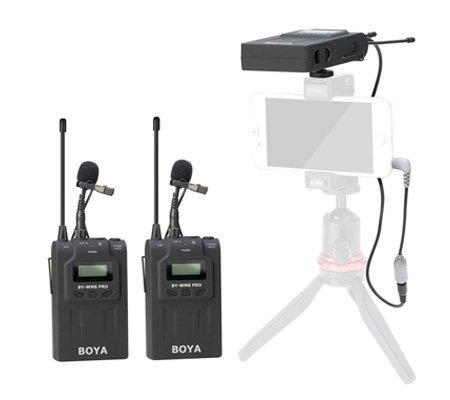 Boya BY-WM8 Pro K2 Dual Channel UHF Wireless Microphone System