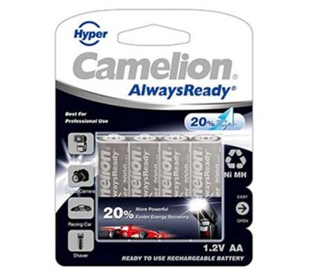 Camelion Battery Rechargeable AA with Case 2000 mAh 4 pcs