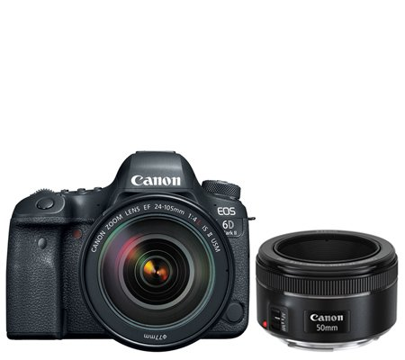 Canon EOS 6D Mark II Kit EF 24-105mm f/4L IS II Free Lens EF 50mm F1.8*