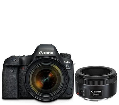 Canon EOS 6D Mark II Kit EF 24-70mm f/4L IS USM Free Lens EF 50mm F1.8*