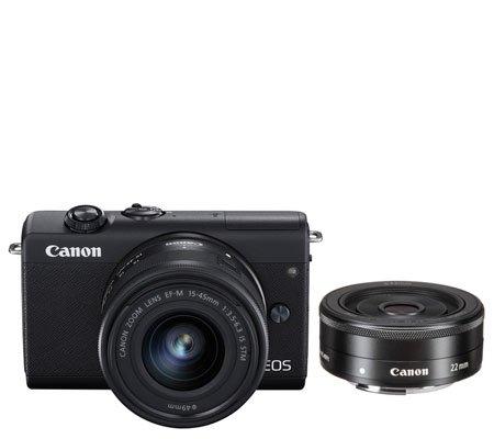 Canon EOS M200 kit 15-45mm f/3.5-6.3 IS STM + 22mm f/2 STM Black