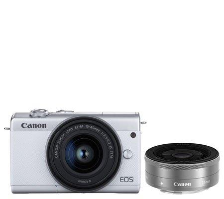 Canon EOS M200 kit 15-45mm f/3.5-6.3 IS STM + 22mm f/2 STM White