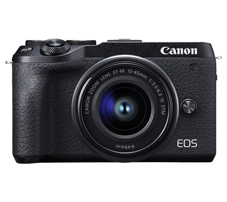 Canon EOS M6 Mark II kit 15-45 IS STM Mirrorless Camera Black