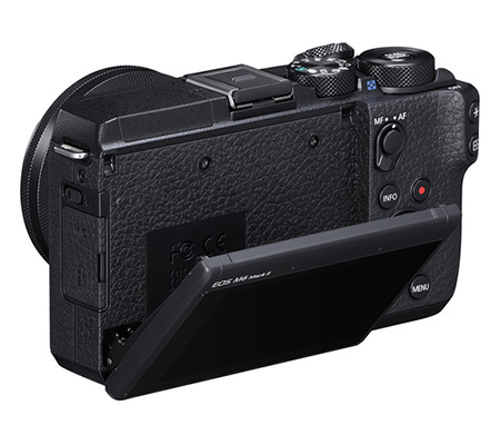 Canon EOS M6 Mark II kit 15-45 IS STM Mirrorless Camera Black