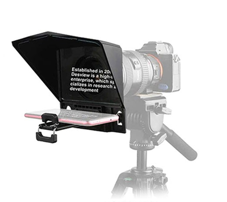 Desview T2 Broadcast Teleprompter for Camera Interview