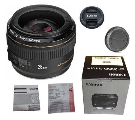 ::: USED ::: Canon EF 28mm F/1.8 USM (Mint-110)