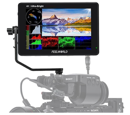 FeelWorld LUT7S 7Inch 3D LUT 4K HDMI and SDI Touchscreen Field Monitor