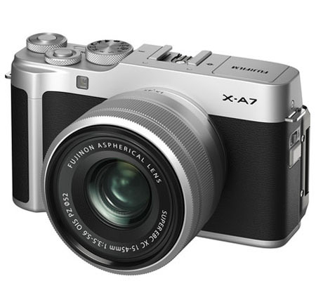 Fujifilm XA7 kit with XC 15-45mm f/3.5-5.6 OIS PZ Silver
