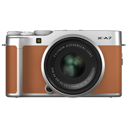 Fujifilm XA7 kit with XC 15-45mm f/3.5-5.6 OIS PZ Camel