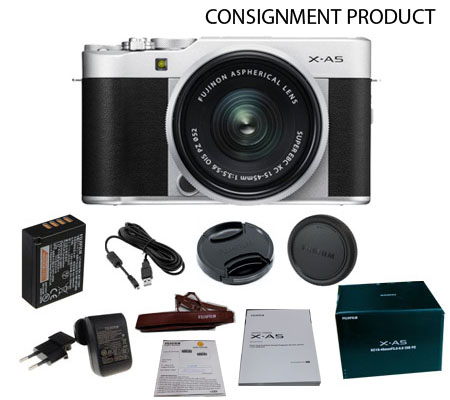 :::USED:::Fujifilm XA5 kit XC 15-45mm f/3.5-5.6 Silver (EXCELLENT 041/421) CONSIGNMENT