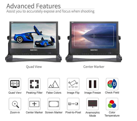 Feelworld SEETEC ATEM156 15.6 Inch Live Streaming Broadcast Monitor with 4 HDMI