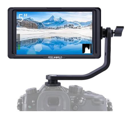 FeelWorld F5 5 Inch Tilt Arm IPS FHD Support 4K HDMI Field Monitor