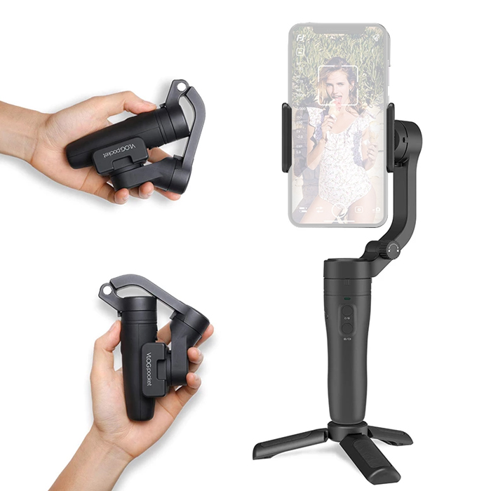 FeiyuTech Vlog Pocket Gimbal 3-Axis For Smartphone Black