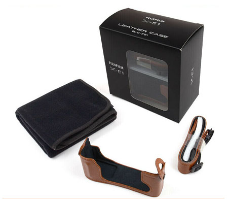 ::: USED ::: Fujifilm Leather Case BLC-XE1 (Brown) (Excellent To Mint)