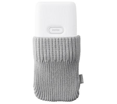 Sock Case Fujifilm Instax Mini Link Ash White