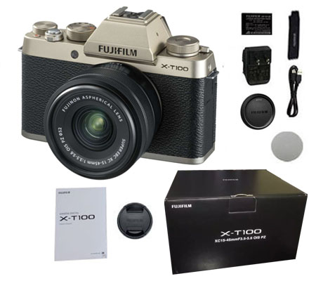 ::: USED ::: Fujifilm X-T100 kit 15-45mm f/3.5-5.6 OIS Champagne Gold (Excellent-897)