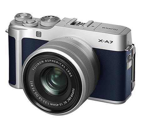 Fujifilm XA7 kit with XC 15-45mm f/3.5-5.6 OIS PZ Navy Blue