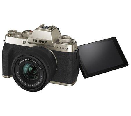 Fujifilm X-T200 kit XC15-45mm f/3.5-5.6 OIS PZ Champagne Gold