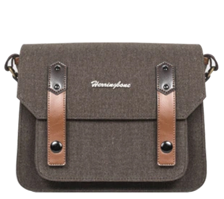 Herringbone Papaspocket Small Brown
