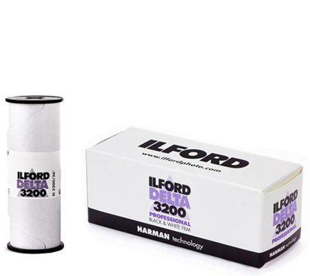 Ilford Delta 3200 Professional ASA 3200 BW 120 Roll Film