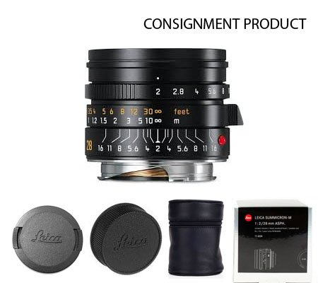 :::USED:::Leica 28mm f/2 Summicron-M ASPH Black (11604) Mint#672 Consignment