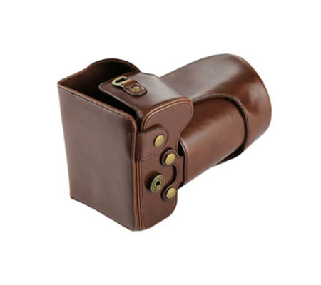 ::: USED ::: Leather Case For Nikon D7200 kit 18-140mm (Brown) (Mint)
