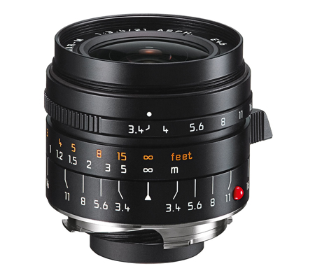 Leica 21mm f/3.4 Super Elmar-M ASPH Black (11145)