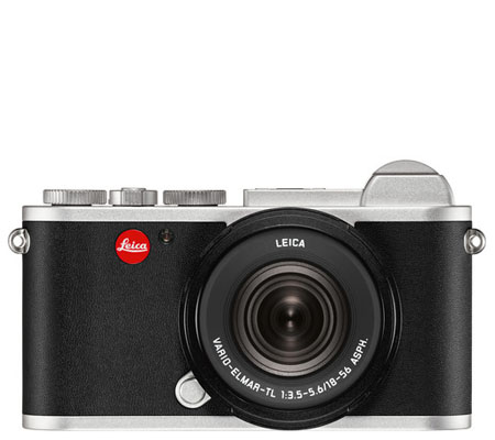 Leica CL Mirrorless Digital Camera Silver Anodized with 18-56mm Lens (19315)
