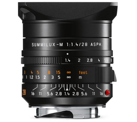 Leica 28mm f/1.4 Summilux-M ASPH Black Anodized (11668)
