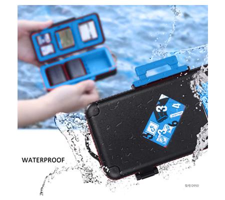 LensGo D950 Camera Battery and Memory Card Case Blue