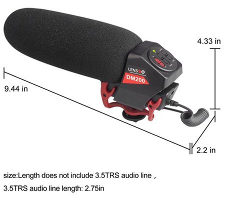 LensGo LYM-DM200 Stereo Shotgun Microphone