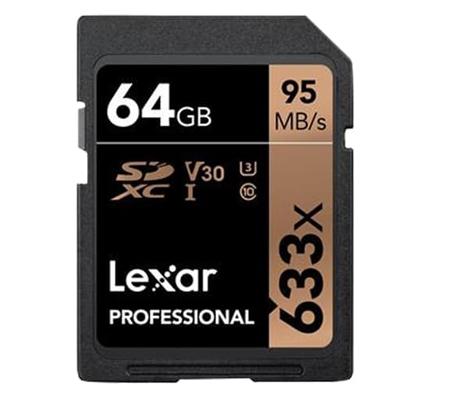 Lexar 64GB Professional 95MB/s UHS-I SDXC Memory Card (U3)