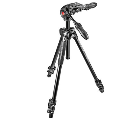 Manfrotto 290 Light Aluminum Tripod with 3-Way Head MK290LTA3-3W