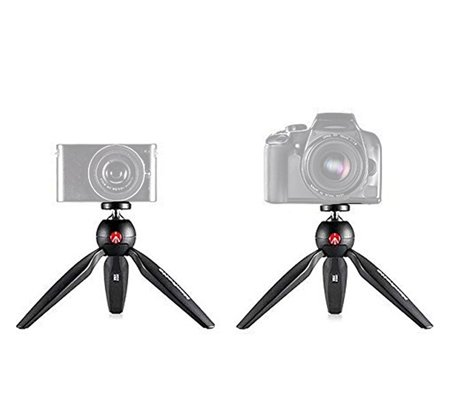 Manfrotto Pixi Mini Table Top Tripod with Smartphone Clamp MKPIXICLAMP-BK