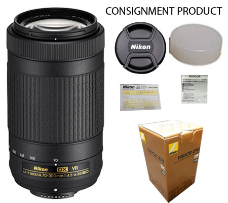 :::USED:::Nikon AF-P DX 70-300mm F 4.5-6.3 G ED (NON VR) MINT 060 CONSIGNMENT