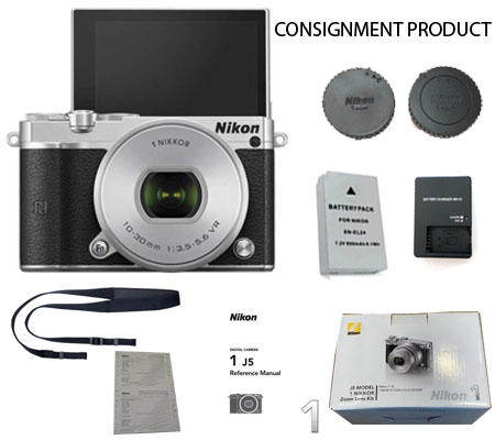 :::USED::: Nikon 1 J5 kit 10-30mm f/3.5-5.6 (Silver) (Excellent-734/609) CONSIGNMENT