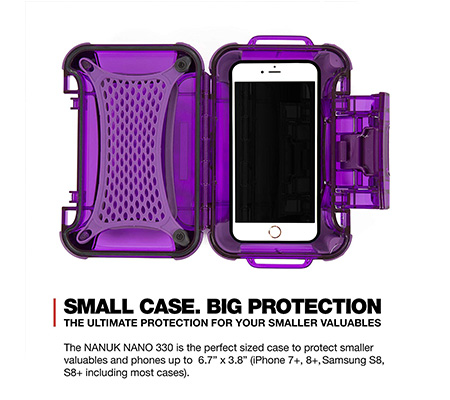 Nanuk Nano 330 Protective Hard Case Purple